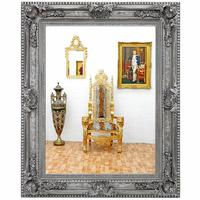 Miroir baroque en bois argenté 160x130 cm Lasson