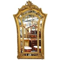 Miroir baroque doré 204x128cm en bois doré Castiglione