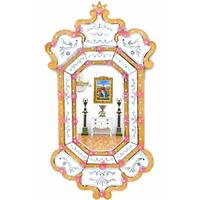 Miroir vénitien royal 122x70cm style baroque Lucera