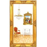 Grand miroir baroque 212x120cm en bois doré Chantilly