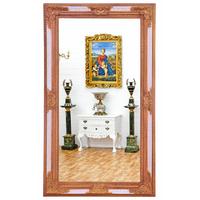 Miroir baroque 216x126cm en bois blanc doré Corcy