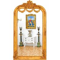 Miroir style Empire 220x120cm en bois doré Malmaison