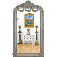 Miroir style Empire 220x118cm en bois gris Malmaison