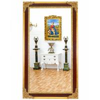 Miroir baroque 212x120cm en bois brun et doré Fayet
