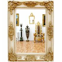 Miroir baroque en bois blanc 126x96cm Gizeux