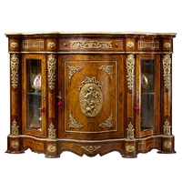 Buffet style Second Empire en marqueterie noyer Pierrefonds
