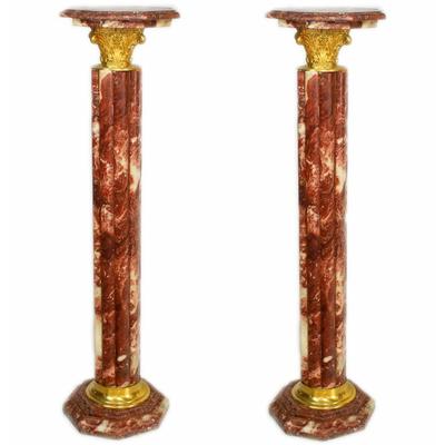Colonnes-marbre-rouge