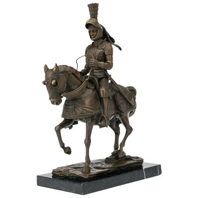 Statue-bronze-chevalier