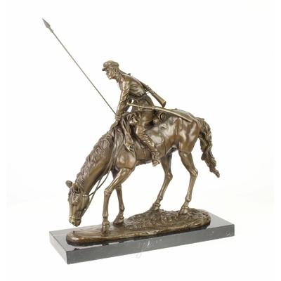Statue-bronze-cosaque