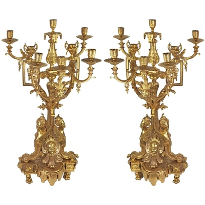 Chandeliers-baroque-rococo-bronze
