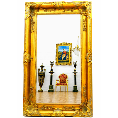 grand miroir baroque 150x90 cm cadre en bois dor miroirs baroque classic stores. Black Bedroom Furniture Sets. Home Design Ideas