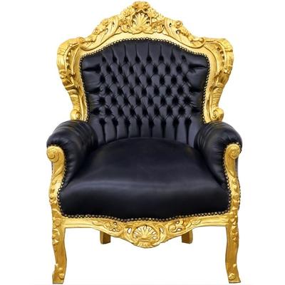 fauteuil-royal-dore-noir