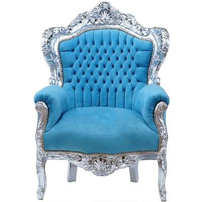 fauteuil-baroque-turquoise-argent