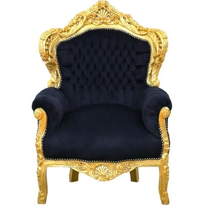 fauteuil-rococo-dore-noir