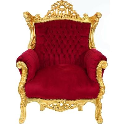 Fauteuil-baroque-rouge-dore