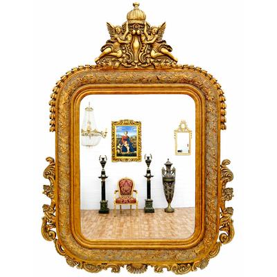 miroir baroque cadre en bois dore 142x98 cm miroirs baroque classic stores. Black Bedroom Furniture Sets. Home Design Ideas