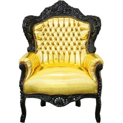 fauteuil-baroque-dore-noir