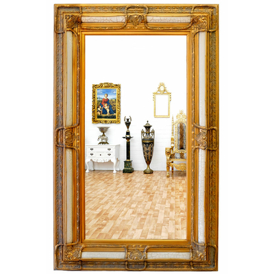 Miroir-rocaille-doré-SP117