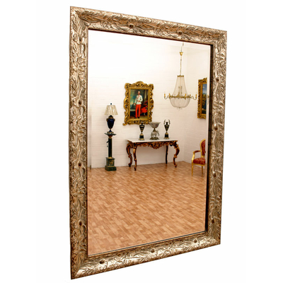 miroir baroque cadre en bois argent 88x62 cm miroirs baroque classic stores. Black Bedroom Furniture Sets. Home Design Ideas