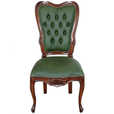 chaise-victorien-acajou-vert