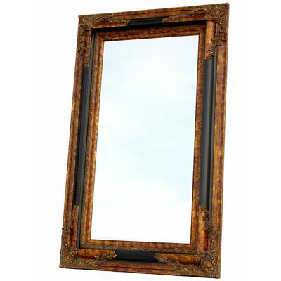 Miroir baroque noir pas cher maison design for Miroir cadre noir