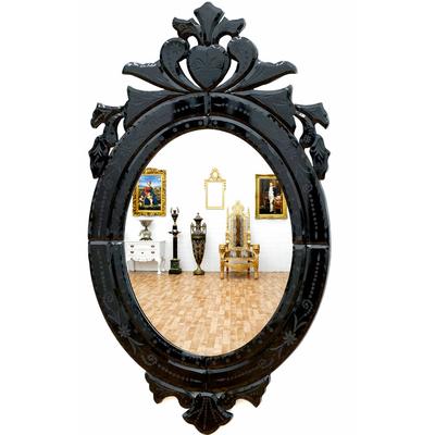 miroir baroque v nitien cadre noir miroirs baroque classic stores. Black Bedroom Furniture Sets. Home Design Ideas