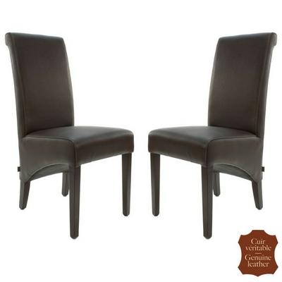 chaises-colonial-cuir-marron