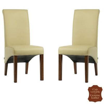 Chaises-cuir-vachette-beige
