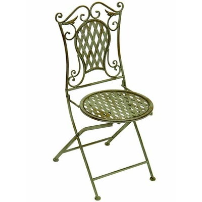 chaise en fer forg vert antique mobilier et d coration. Black Bedroom Furniture Sets. Home Design Ideas