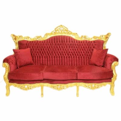 Canape-baroque-rouge-dore