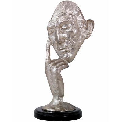 Statue-bronze-masque