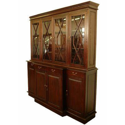 biblioth que en acajou style empire meubles de style biblioth ques tag res classic stores. Black Bedroom Furniture Sets. Home Design Ideas