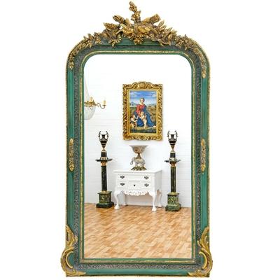 Miroir-vert-dore-baroque