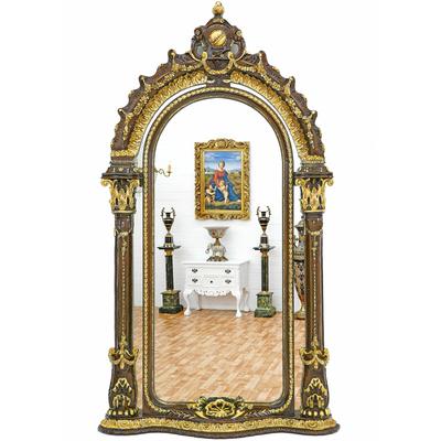 Miroir-royal-brun-dore