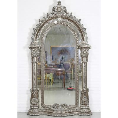Miroir-rococo-argent