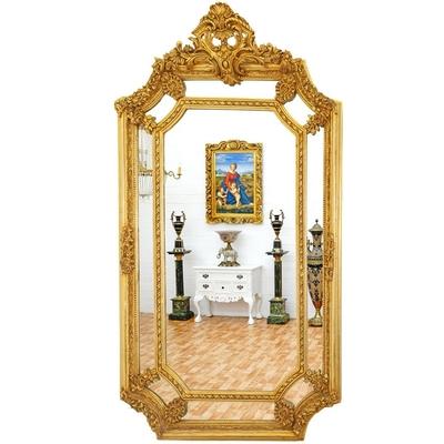 Miroir-baroque dore