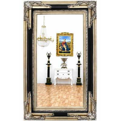 Miroir-baroque-noir-argent