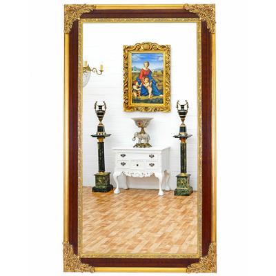 Miroir-baroque-brun-dore