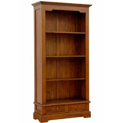 biblioth que style colonial en acajou massif meubles de style biblioth ques tag res. Black Bedroom Furniture Sets. Home Design Ideas