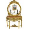 Console rococo en hêtre doré style Louis XVI Versailles