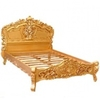 Lit baroque doré en acajou massif Chambord
