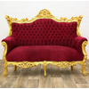 Canape-baroque-rouge-dore-a