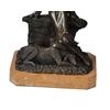Statue-bronze-femme-chien-a