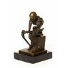 Bronze-squelette-penseur-a