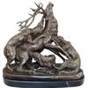 Statue-bronze-chasse-cerf
