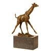 Statue-bronze-girafe