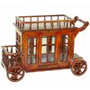 Desserte mini-bar à roulette wagon style anglais victorien Oxford