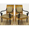 Paire de fauteuils style Empire en hêtre et loupe d'orme Austerlitz