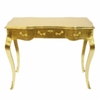 Bureau style baroque 100 cm en hêtre massif doré Barville