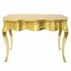 Bureau baroque 120 cm en hêtre doré Verdilly